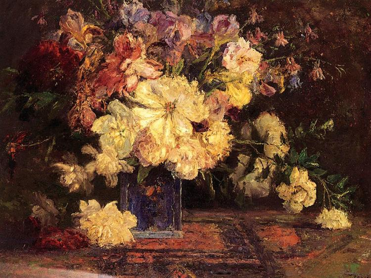 Still Life with Peonies, 1915 - T. C. Steele