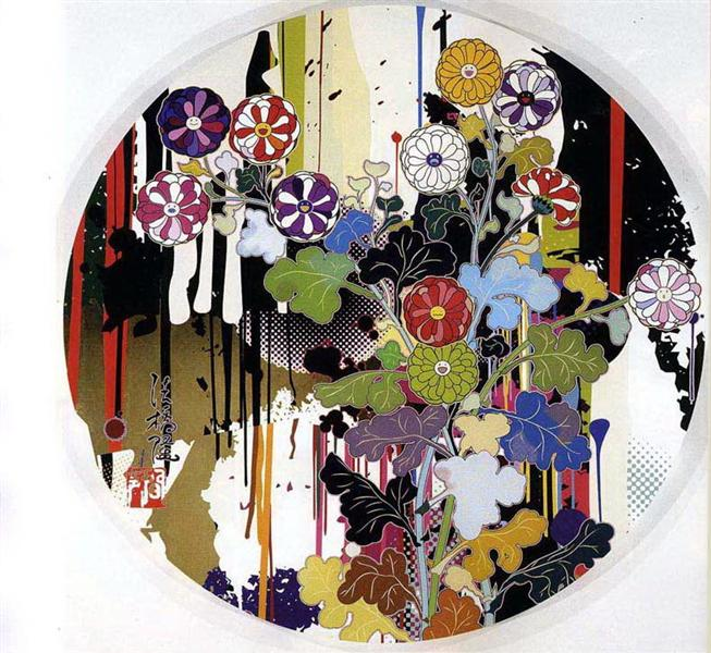 I Recall The Time When My Feet Lifted Off The Ground, Ever So Slightly. – Kôrin – Chrysanthemum, 2009 - Takashi Murakami