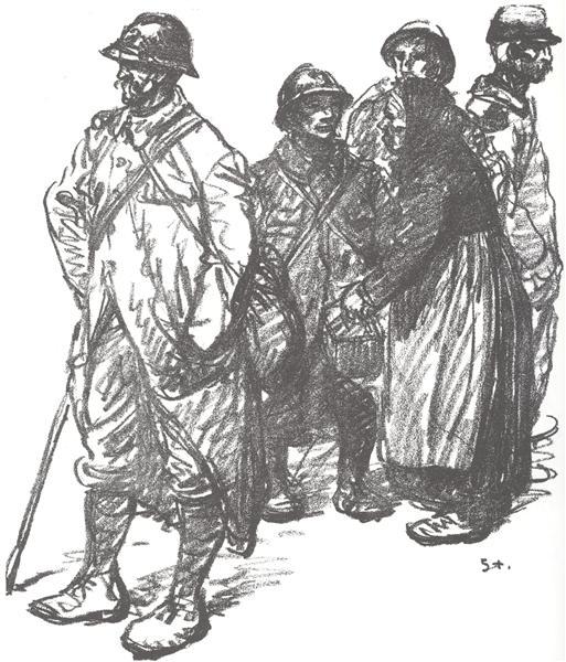 Au Cantonnement, 1916 - Theophile Steinlen