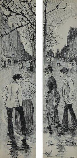 Belleville-Menilmontant  original drawin - Theophile Steinlen