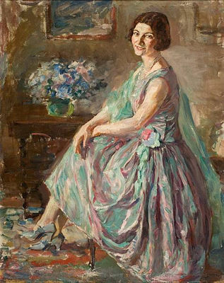 Lady in an interior - Thalia Flora-Karavia