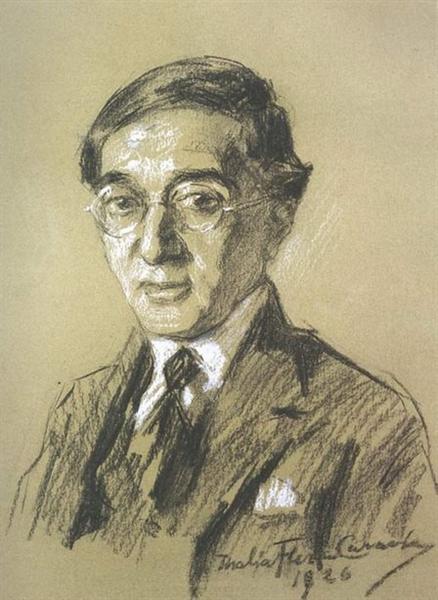Portrait of poet K.P. Cavafy - Thalia Flora-Karavia