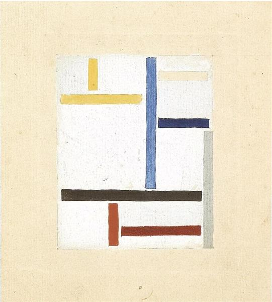 Study for Composition XXV, 1923 - Theo van Doesburg