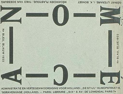 "Wrapper magazine ""Mécano - Blue, Blauw, Blau, Blue"", 1922 - Theo van Doesburg"