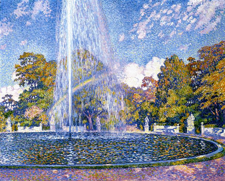 Fountain at San Souci, 1903 - Theo van Rysselberghe