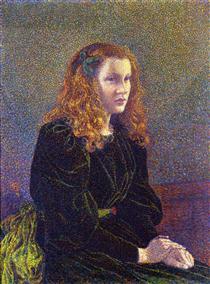 Girl in Green - Théo van Rysselberghe