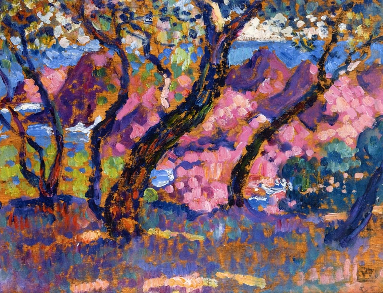 Complètement et à l'extrême The Pine Tree at St. Tropez, 1909 - Paul Signac - WikiArt.org @AM_34