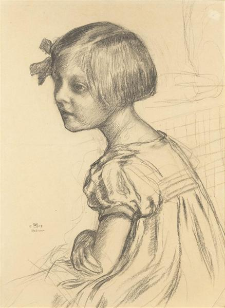 Mademoiselle Nele Van de Velde, 1903 - Theo van Rysselberghe