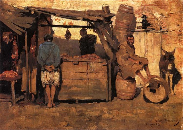Moroccan Butcher Shop, 1882 - Theo van Rysselberghe