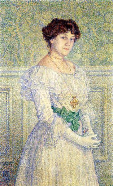 Portrait of Laure Fle, 1898 - Тео ван Рейссельберге