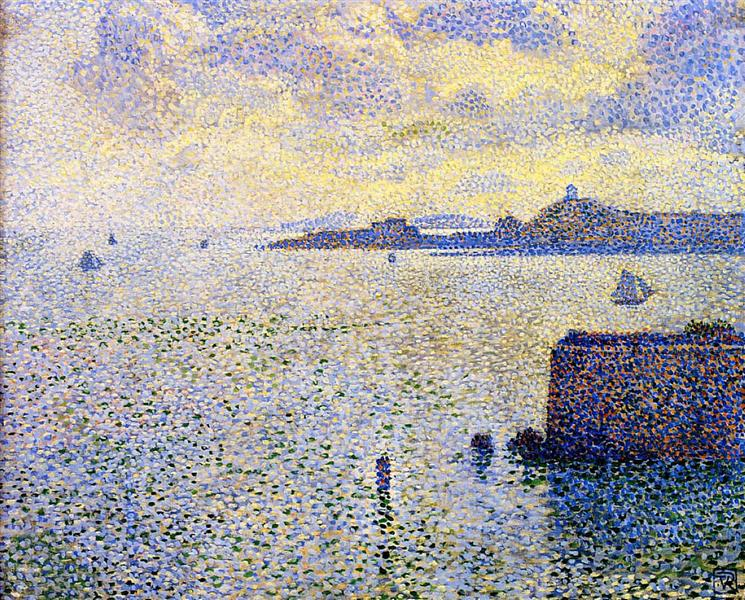 Sailboats and Estuary, 1892 - Theo van Rysselberghe
