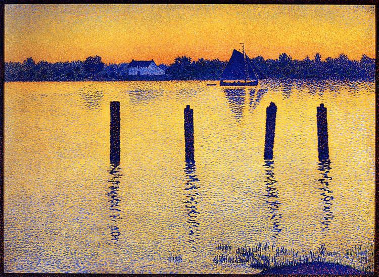 Sailboats on the River Scheldt, 1892 - Théo van Rysselberghe