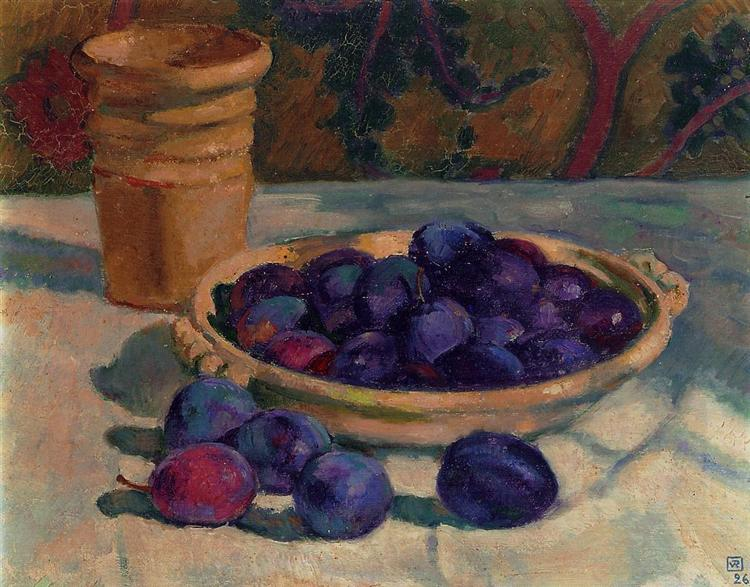 Still Life with Plums, 1926 - Théo van Rysselberghe