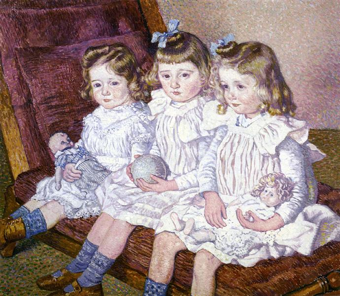 Thomas Braun's Three Daughters, 1904 - Theo van Rysselberghe