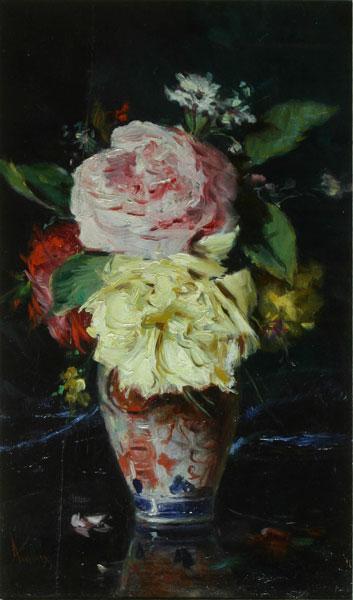 Vase with Flowers - Theodor Aman