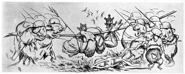 Krigen Mellom Froskene Og Musene 12, 1885 - Theodor Severin Kittelsen