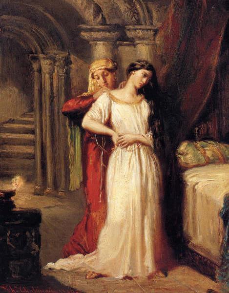 Le Coucher de Desdémone, 1849 - Theodore Chasseriau