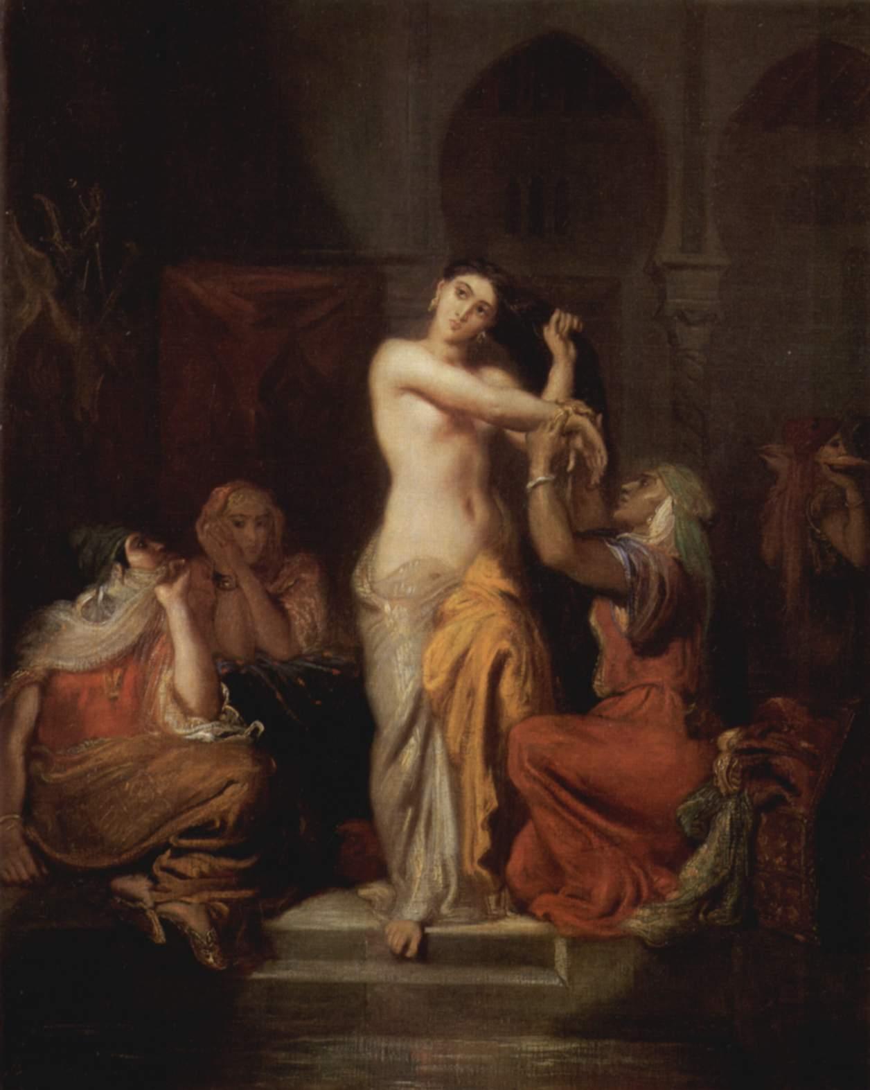 Int rieur de harem femme de constantine sortant du bain for Interieur algerien