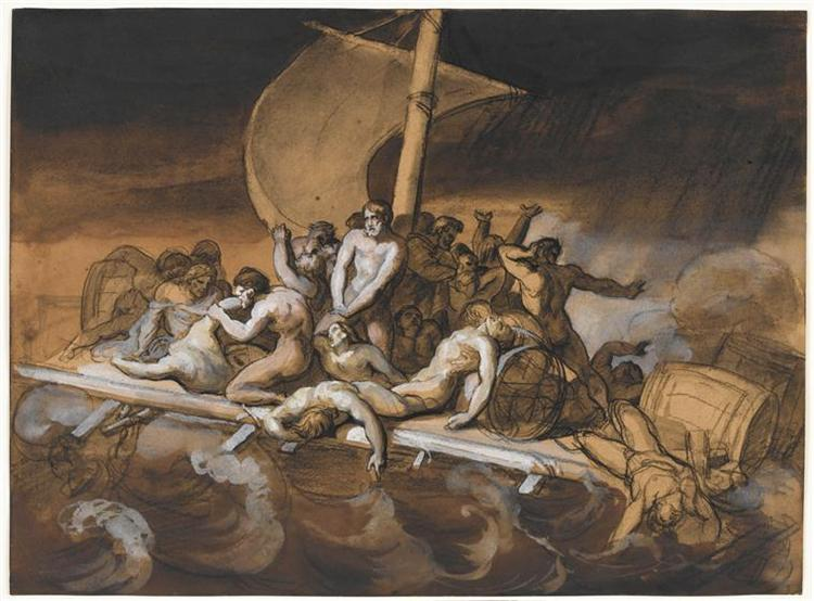 SceneofCannibalism for The Raft of the Medusa - Theodore Gericault