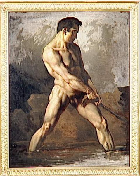 Study of a Male Nude - Théodore Géricault