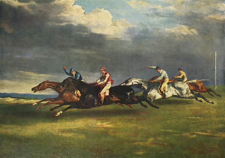 The Epsom Derby - Théodore Géricault