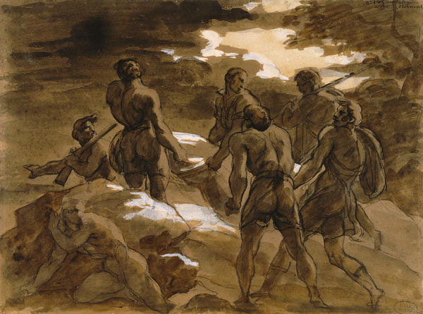 The murderers carry the body of Fualdes, 1818 - Theodore Gericault