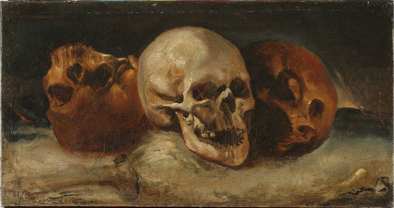 The three skulls, 1812 - 1814 - Théodore Géricault