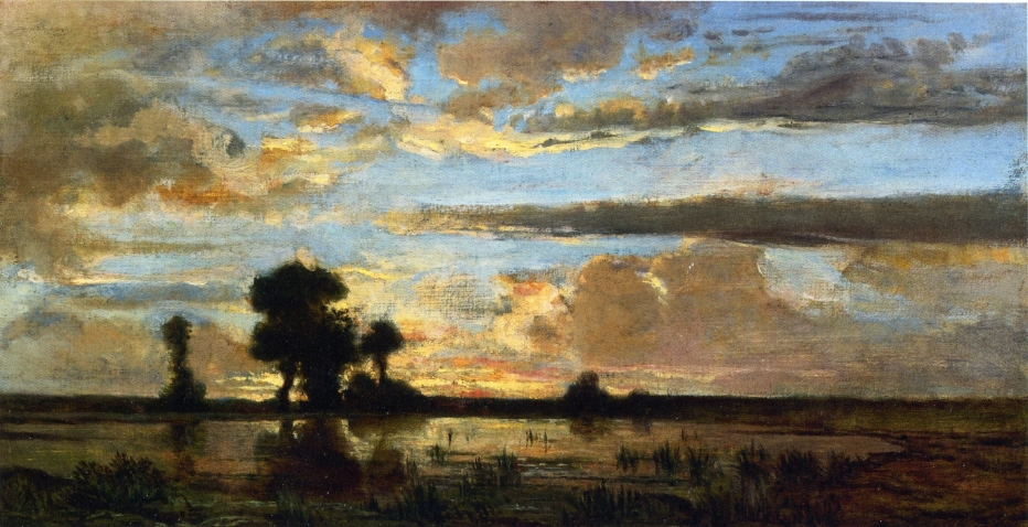 Edge of the Forest, Sun Setting - Theodore Rousseau ... Theodore Rousseau