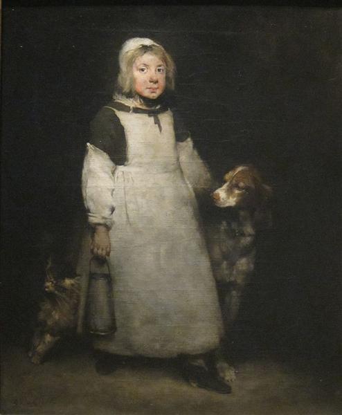 The Little Milkmaid, 1865 - Theodule Ribot