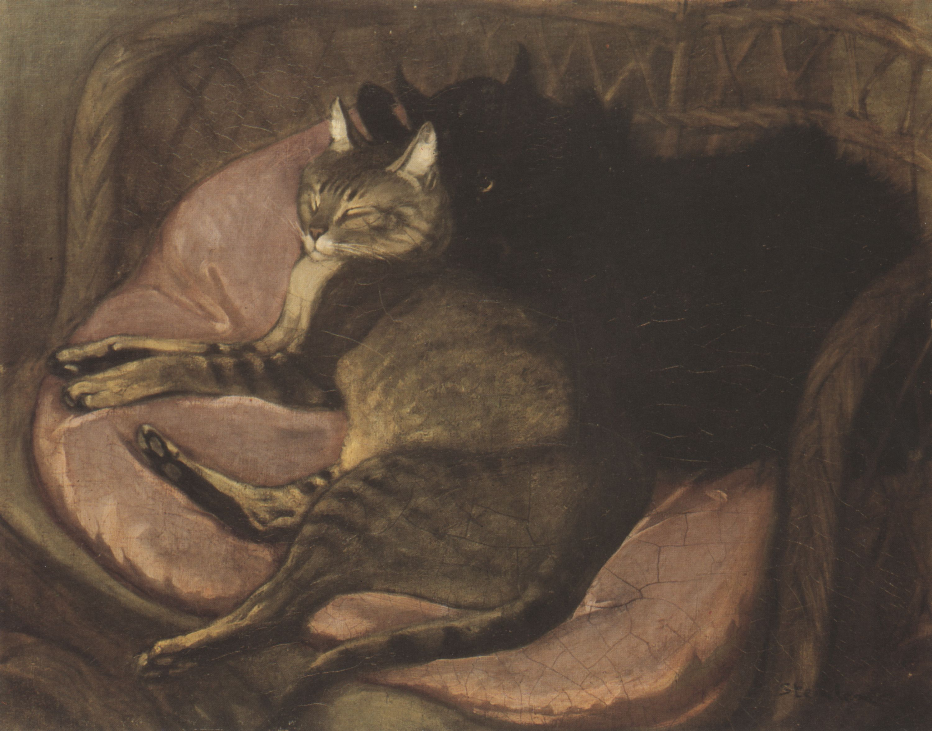 Steinlen Cats Drawings Cats on The Sofa Theophile