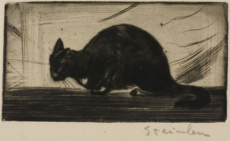 Chat Faisant Le Gros Dos, 1898 - Theophile Steinlen