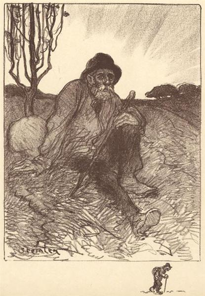 Chemineau Assis, 1913 - Theophile Steinlen
