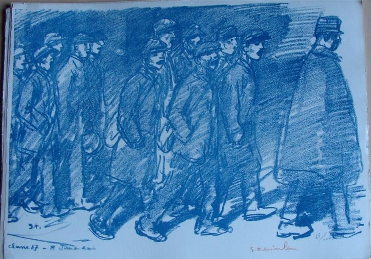 Classe 17 - 8 Janvier soir, 1916 - Theophile Steinlen
