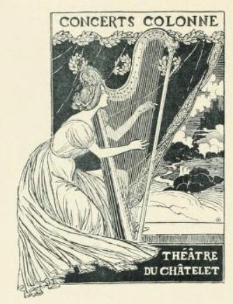 Concerts Colonne, 1893 - Theophile Steinlen