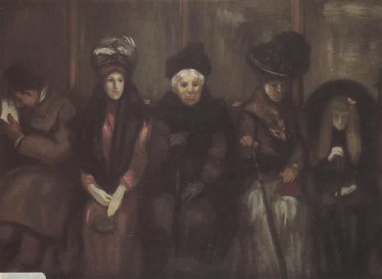 Dans Le Tramway, 1890 - Theophile Steinlen