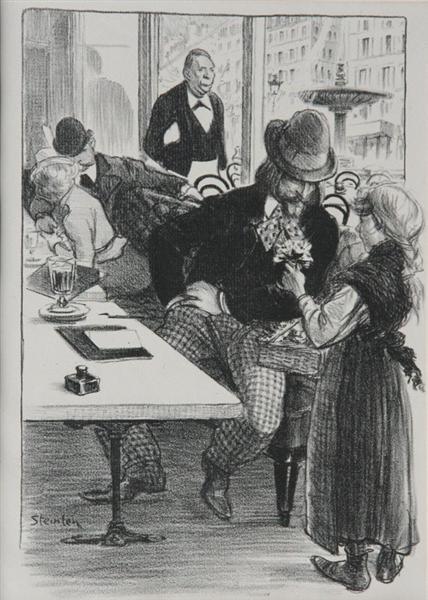 Envoi de Fleurs, 1899 - Théophile Alexandre Steinlen