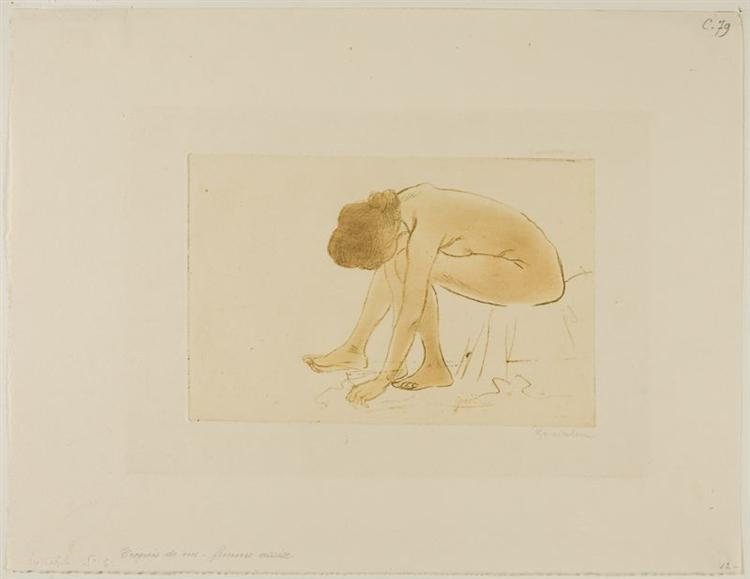 Femme Assise S'Essuyant Les Pieds, 1902 - Theophile Steinlen