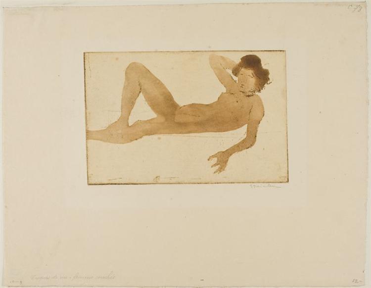 Femme Couchee, 1902 - Theophile Steinlen
