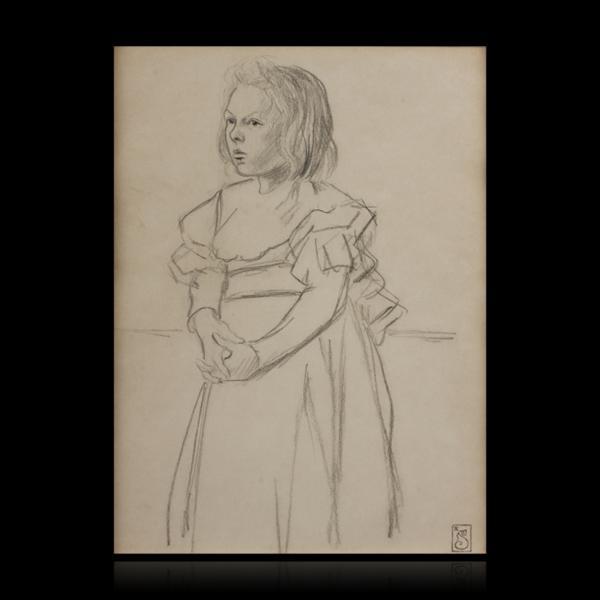 Fillette a la robe aux rubans - Теофіль Стейнлен
