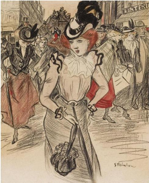 Hue Cocotte - Theophile Steinlen