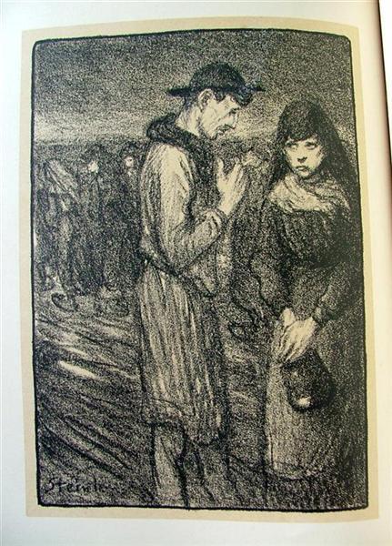 Idylle, 1907 - Theophile Steinlen
