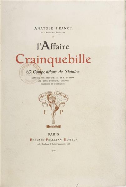 L'Affaire Crainquebille cover - Théophile-Alexandre Steinlen