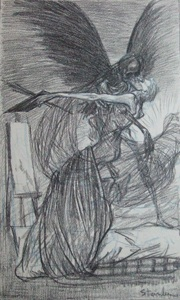 L'Agonie de L'Artiste - Theophile Steinlen