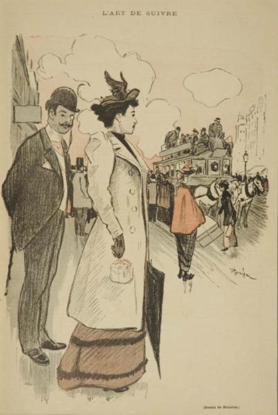 L'Art de Suivre, 1893 - Theophile Steinlen