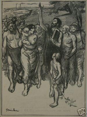 L'Idee en Marche, 1899 - Théophile Alexandre Steinlen