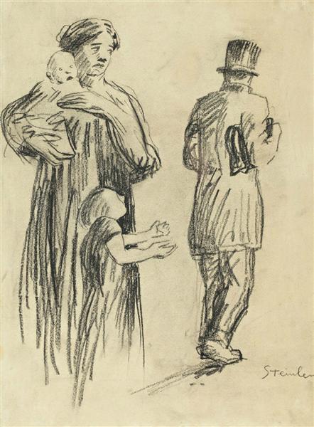 La Famille Indigente - Theophile Steinlen