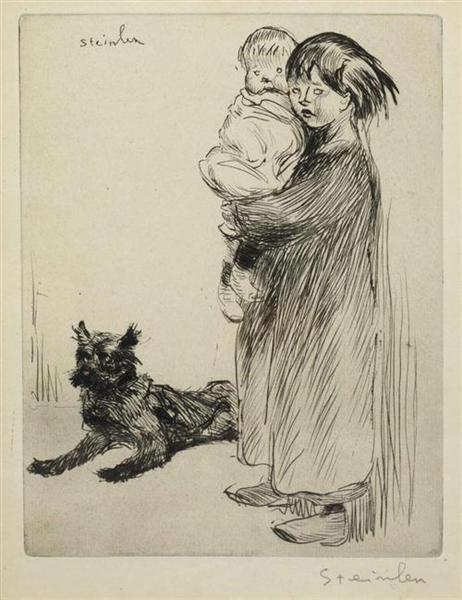 La Grande Soeur, 1913 - Théophile-Alexandre Steinlen