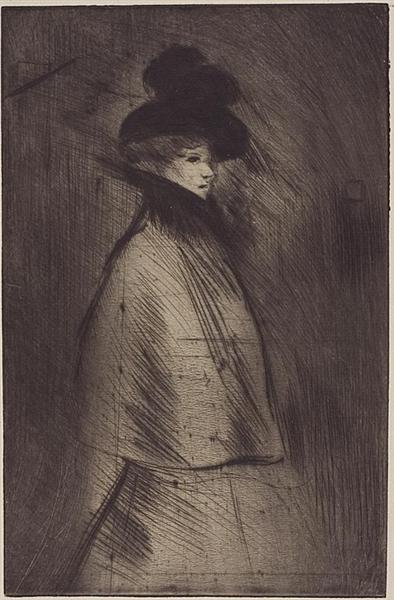 La Promeneuse, 1898 - Теофиль Стейнлен