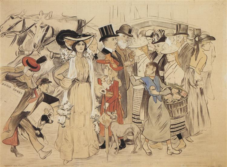 La Rue, 1904 - Théophile Alexandre Steinlen