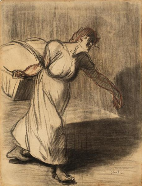 Laundress - Theophile Steinlen